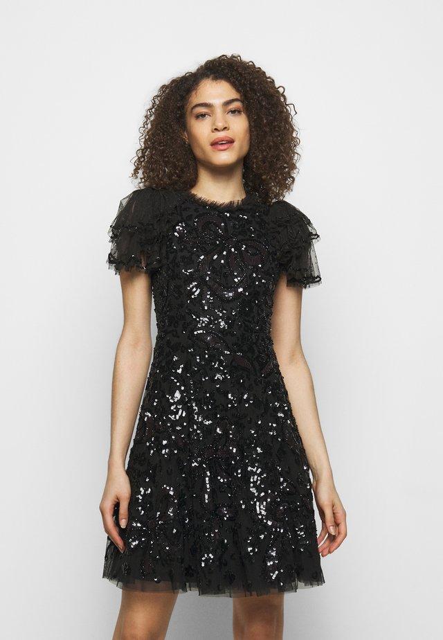 SHIRLEY RIBBON MINI DRESS - Cocktail dress / Party dress - ballet black
