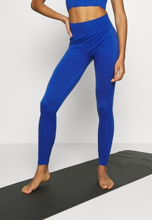 PLAIN LEGGING CUT SEW - Tights - cobalt