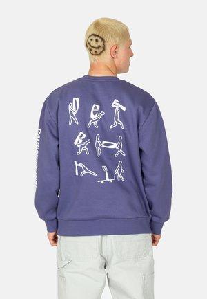 Sweatshirt - cold viola / white