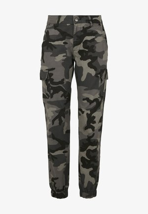 Cargo trousers - dark camo