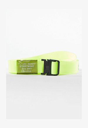 Braided belt - neon yellow