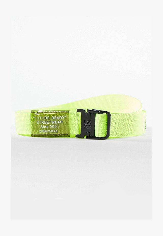 Pletený pásek - neon yellow