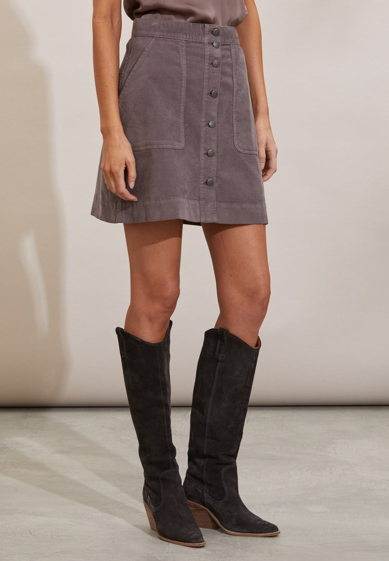 Odd Molly - HOLLY - Mini skirt - steel grey