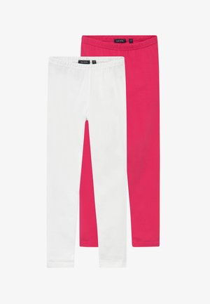 2 PACK - Leggings - Trousers - pink/white