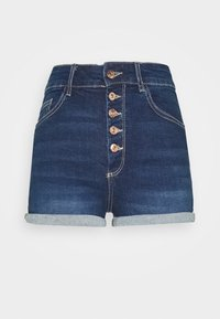ONLHUSH BUTTON BOX - Jeansshort - dark blue denim