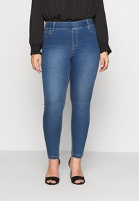 CAPSULE by Simply Be - AMBER SKINNY JEGGING - Jeggings - mid blue - 1