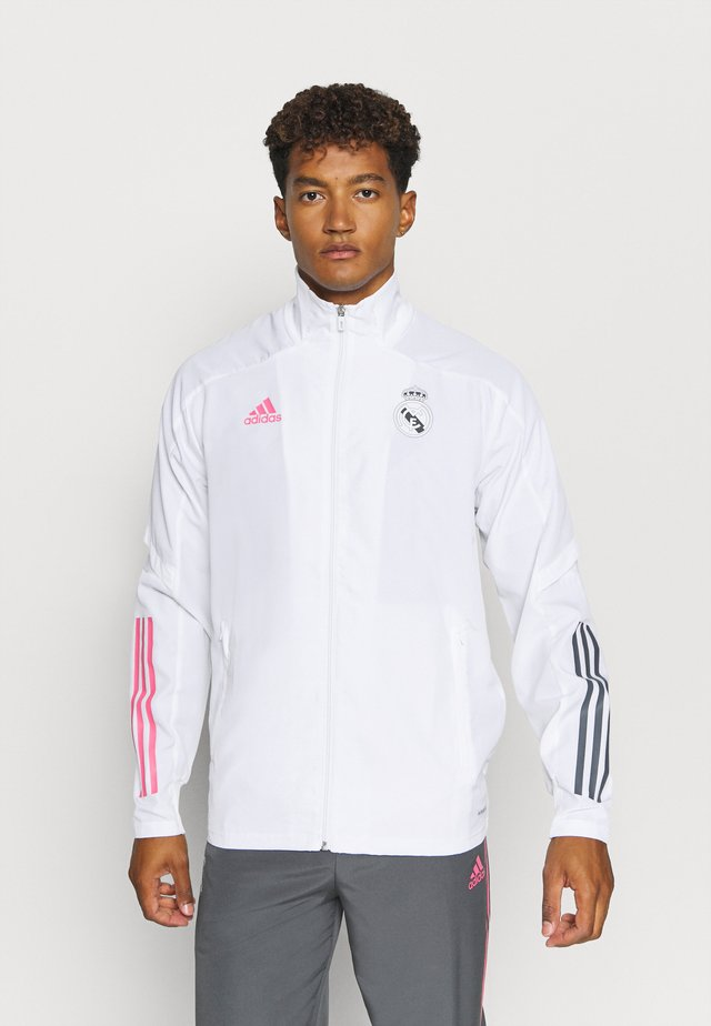 REAL MADRID SPORTS FOOTBALL TRACKSUIT JACKET - Article de supporter - white