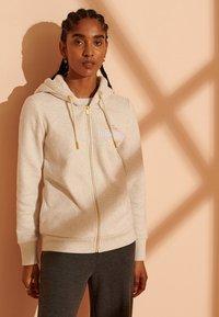 Superdry - Zip-up hoodie - oatmeal marl - 1