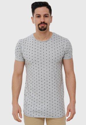Print T-shirt - lt grey mix