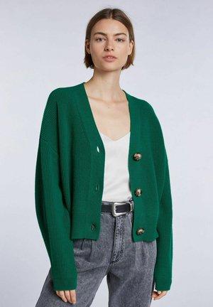 Cardigan - apple green