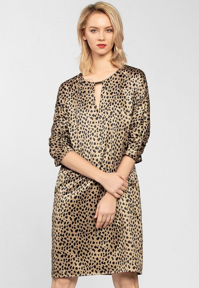 Robe d'été - camel/black