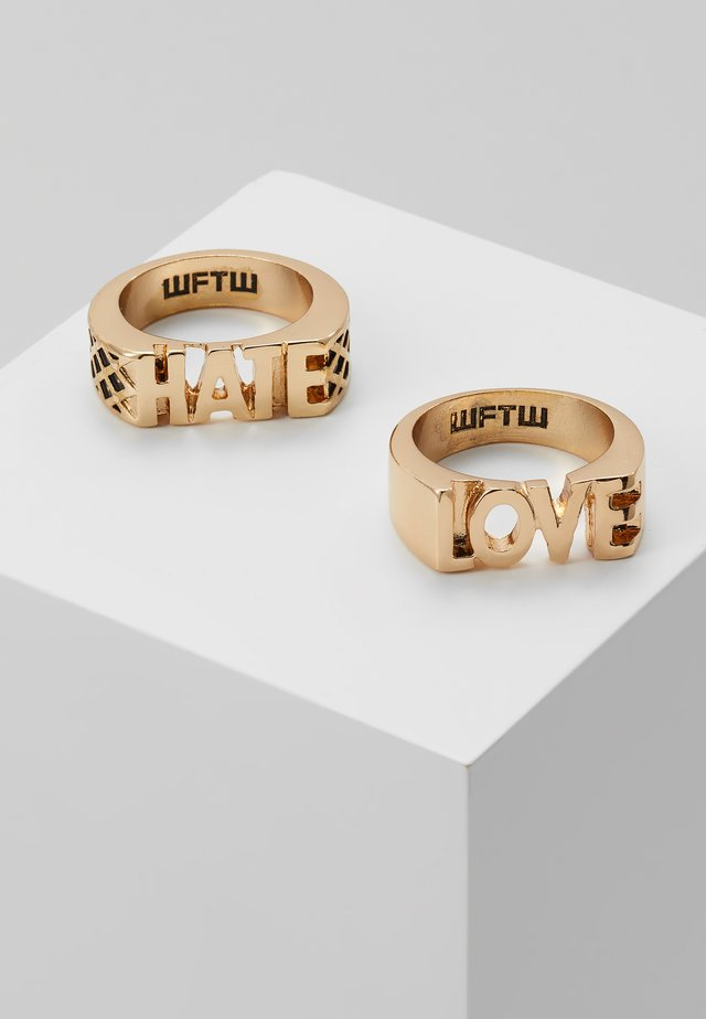 LOVE HATE 2 PACK - Ringe - gold-coloured