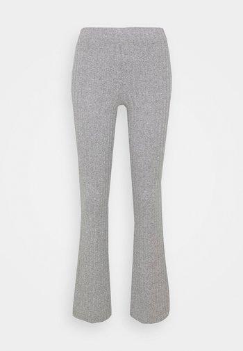 TARA TROUSERS - Trousers - grey melange