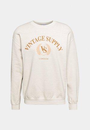 OVERDYED WITH TONAL LOGO CREST - Sweatshirt - od stone
