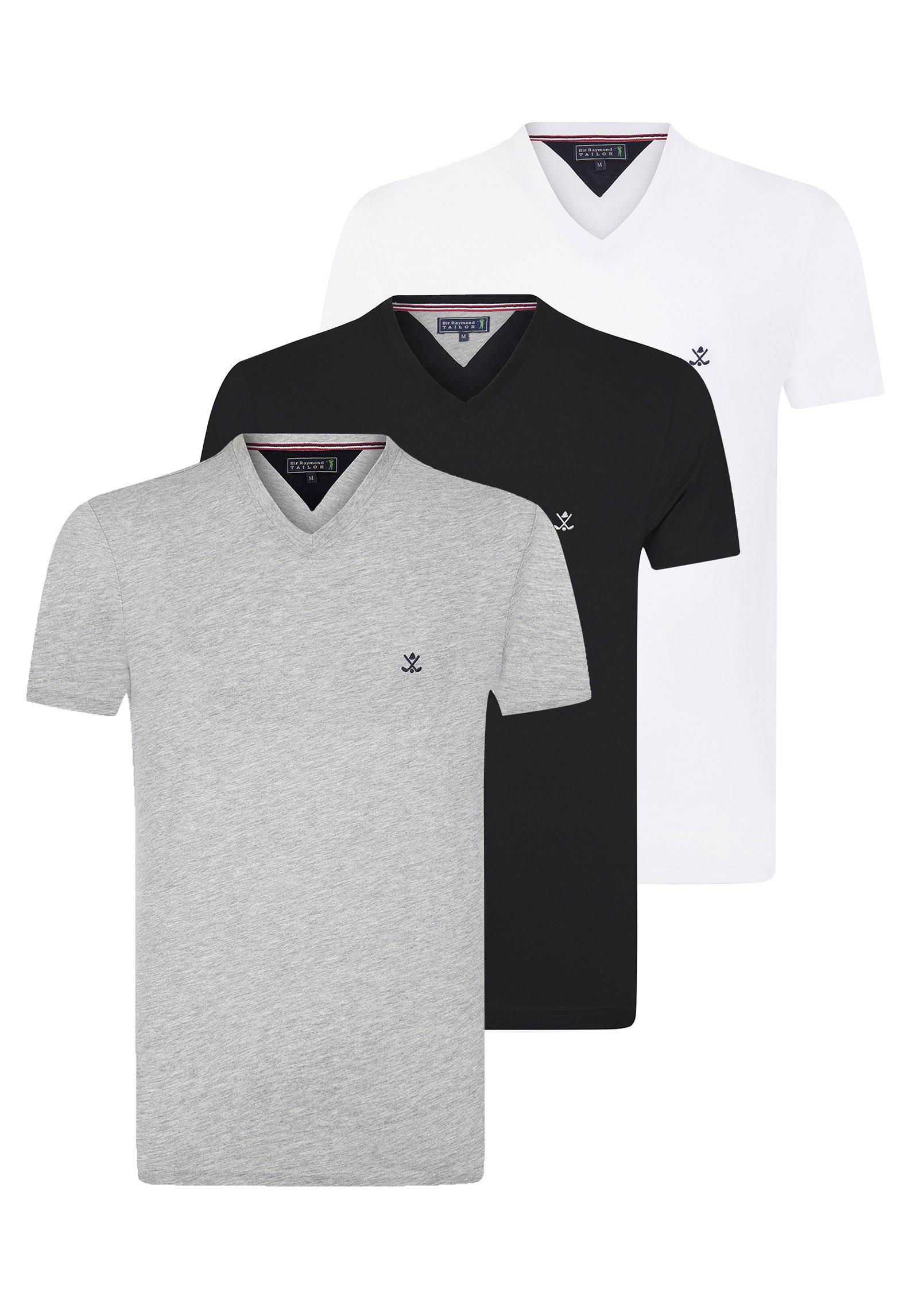 Uomo 3ER PACK - T-shirt basic