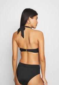 Marks & Spencer London - TWIST HALTER - Bikini top - black - 2