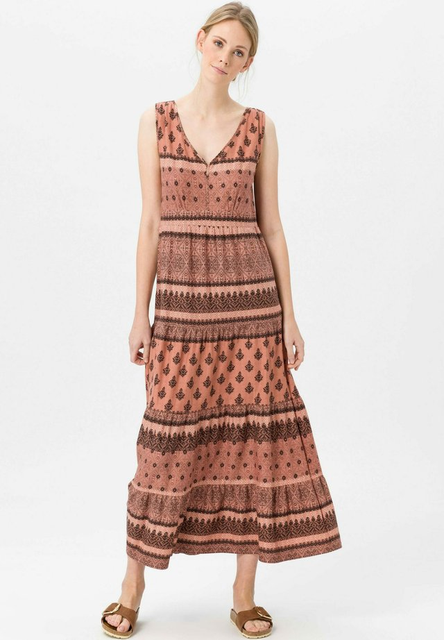 Maxi dress - zimt/multicolor