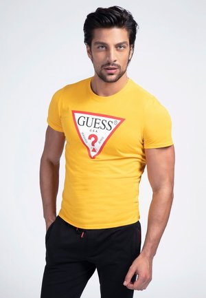 ORIGINAL LOGO - T-shirt con stampa - mehrfarbig  gelb