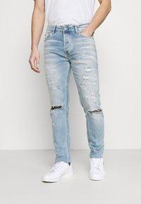 Topman - BLEACH - Slim fit jeans - light wash - 0