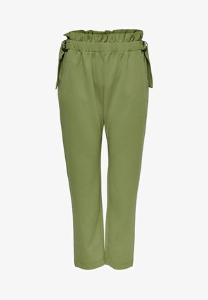Trousers - martini olive