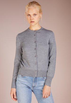 SHORT CARDIGAN - Cardigan - mid grey melange