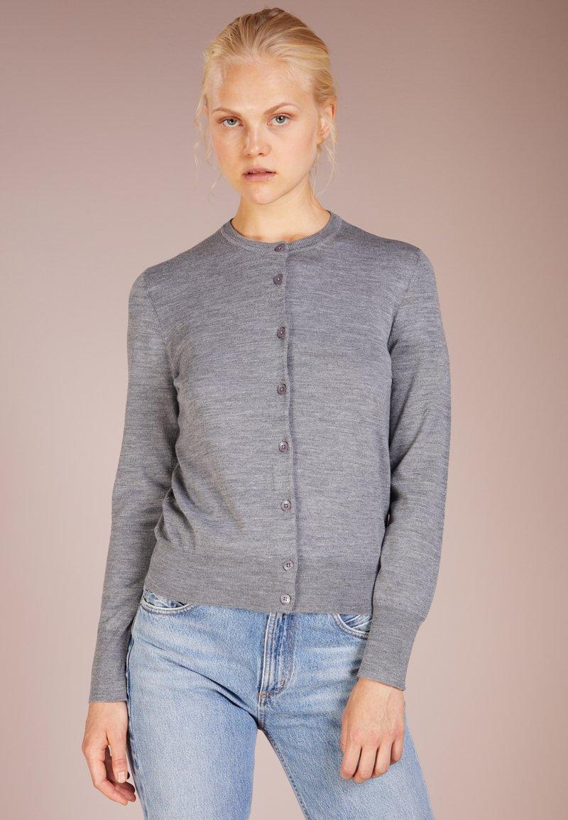 Filippa K - SHORT CARDIGAN - Cardigan - mid grey melange