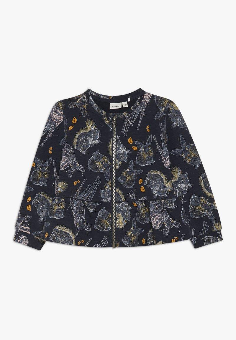 Name it - NMFSIGGIE LIGHT CARD  - veste en sweat zippée - dark sapphire