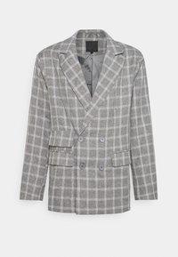 Mennace - BREEZE DOUBLE BREASTED CHECK SUIT JACKET - Blazer jacket - grey - 4