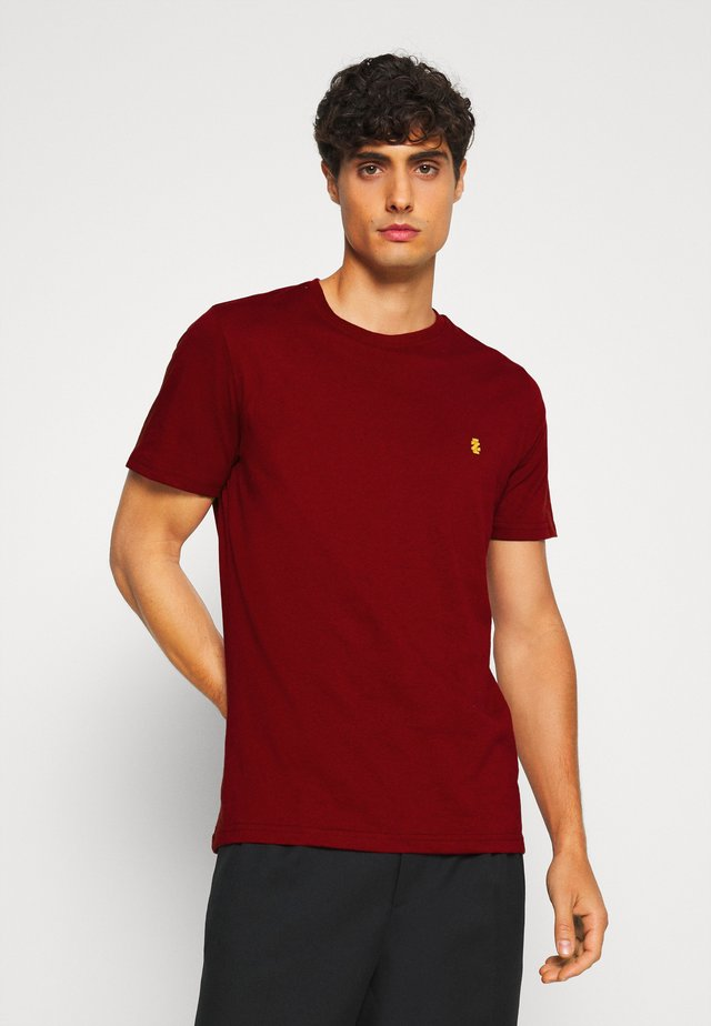 CHEST LOGO SOLID TEE - Basic T-shirt - merlot