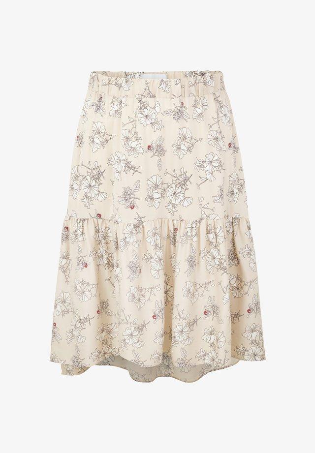 ANI  - A-snit nederdel/ A-formede nederdele - beige