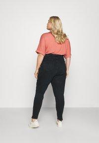 Calvin Klein Jeans Plus - HIGH RISE SKINNY ANKLE - Jeans Skinny Fit - denim black - 2