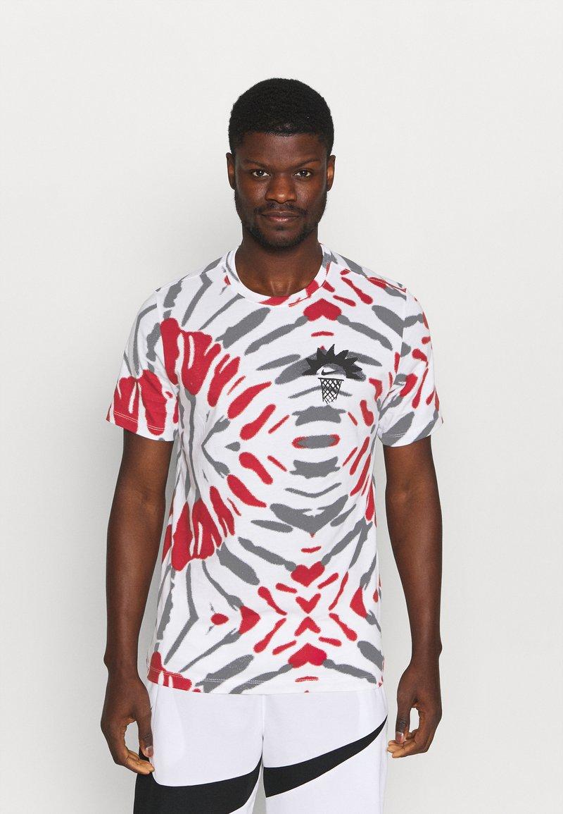 Nike Performance - FEST TEE - T-shirts print - white/black/gym red