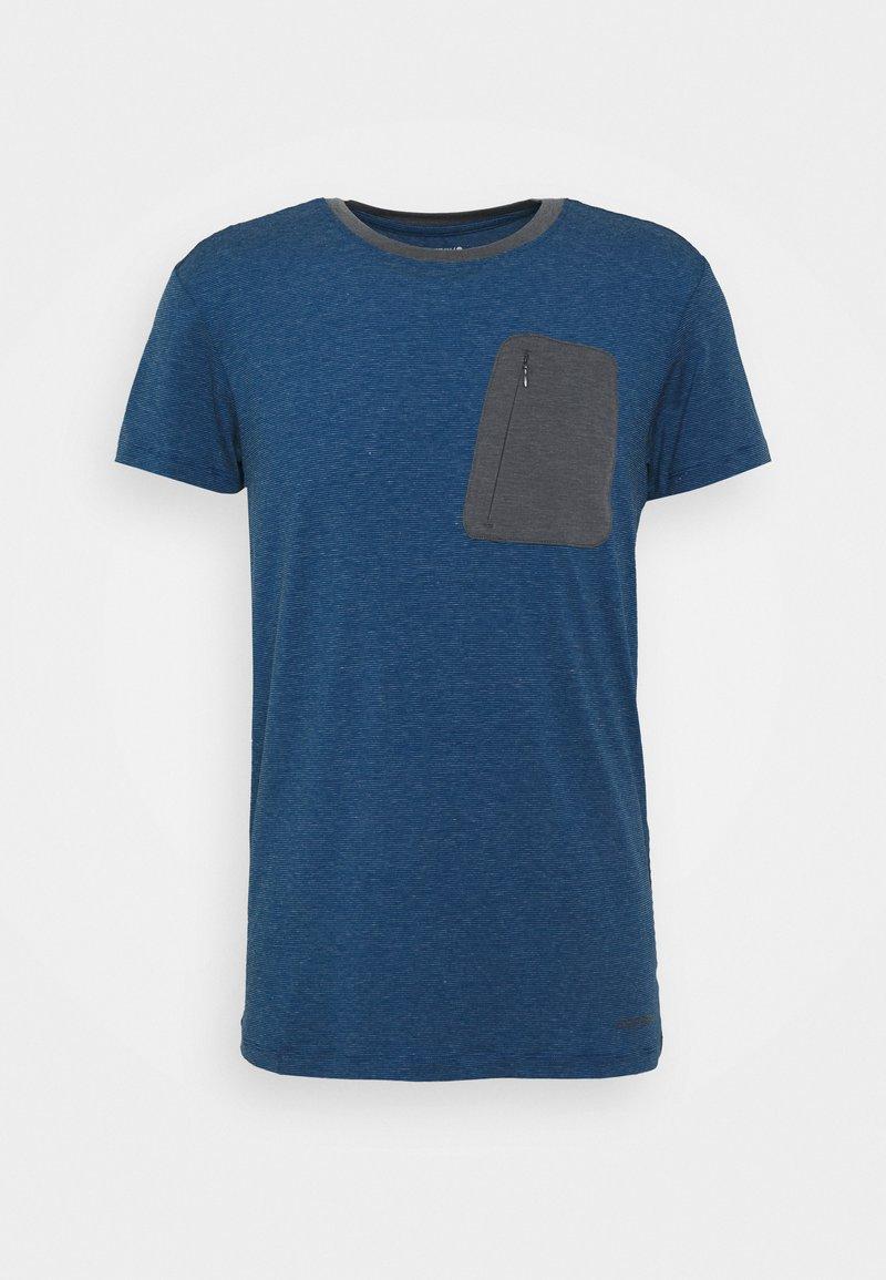 Icepeak - MUNDEN - Print T-shirt - navy blue