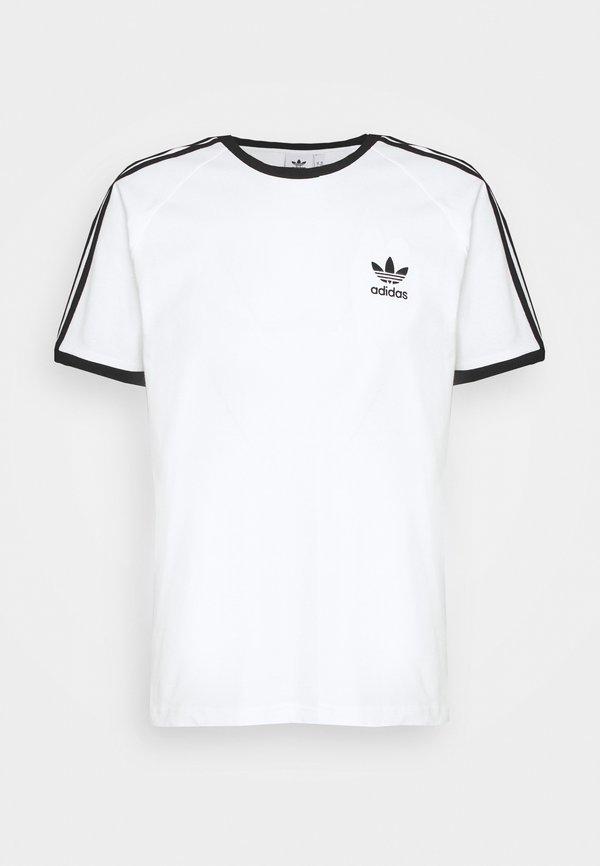 adidas Originals STRIPES TEE - T-shirt z nadrukiem - white/biały Odzież Męska TPBV