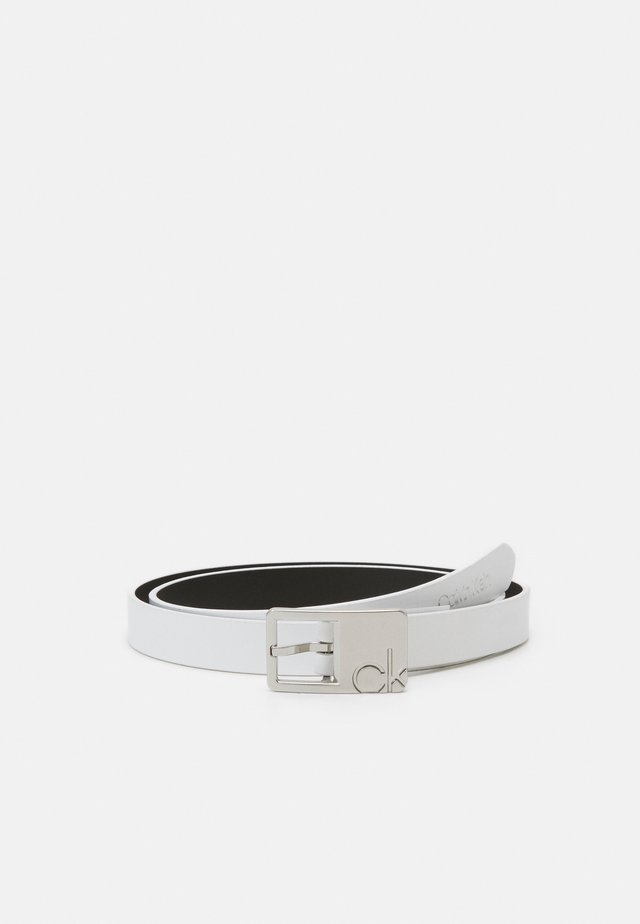 SQUARE BUCKLE BELT - Belt - white