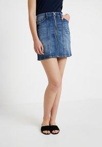 edc by Esprit - MINSKIRT - Denim skirt - blue medium wash - 0