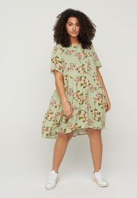 Zizzi - Shirt dress - green - 1