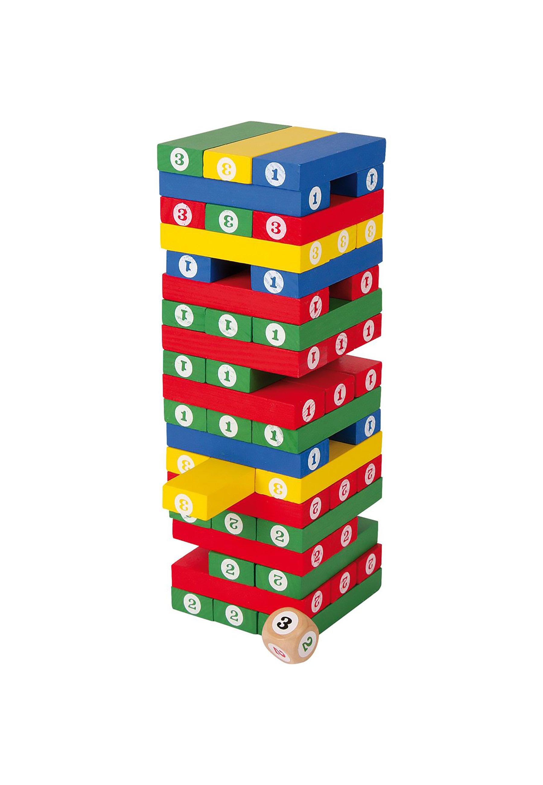 Kinder Geschicklichkeits Zahlenturm - Holzspielzeug