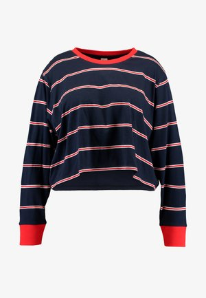 LADIES SHORT DYED SKATE STRIPE - T-shirt à manches longues - midnightnavy/red