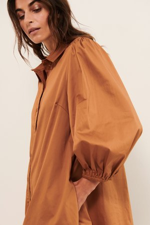 Shirt dress - chipmunk