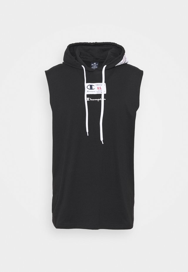 HOODED SLEEVELESS - Toppi - black