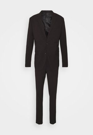 PLAIN MENS SUIT - Kostym - dark burgundy melange