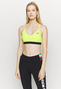 Nike Performance - INDY BRA - Sport BH - volt/black - 0