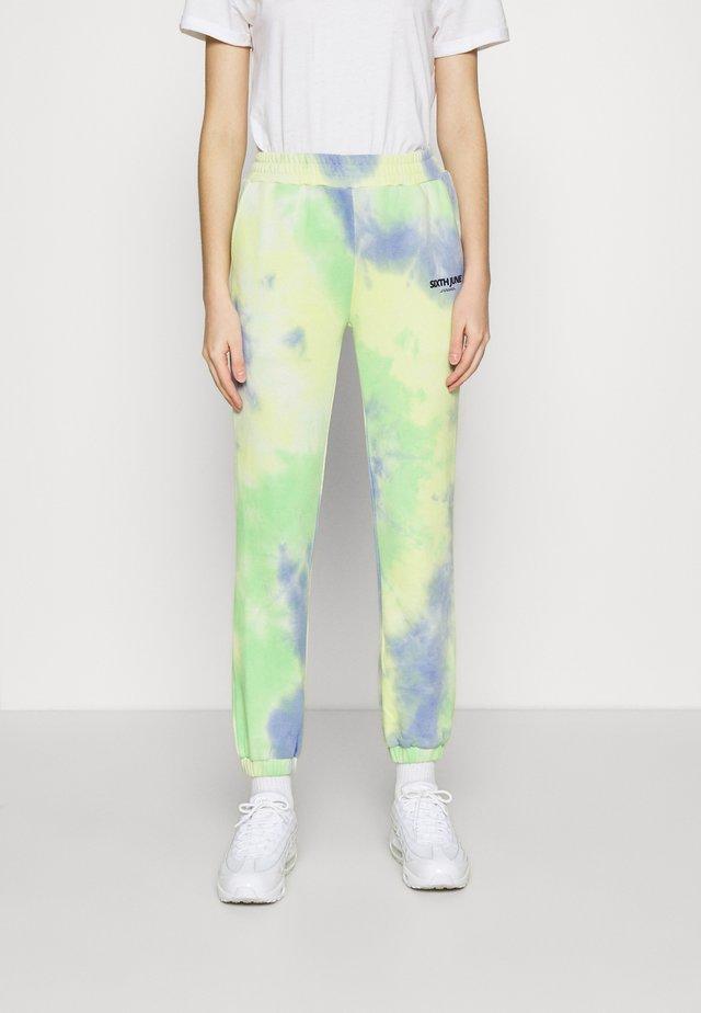 TIE DYE - Teplákové kalhoty - blue