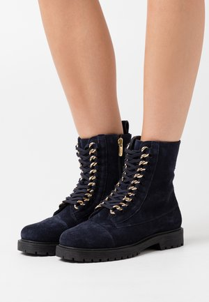 ALLY  - Lace-up ankle boots - navy