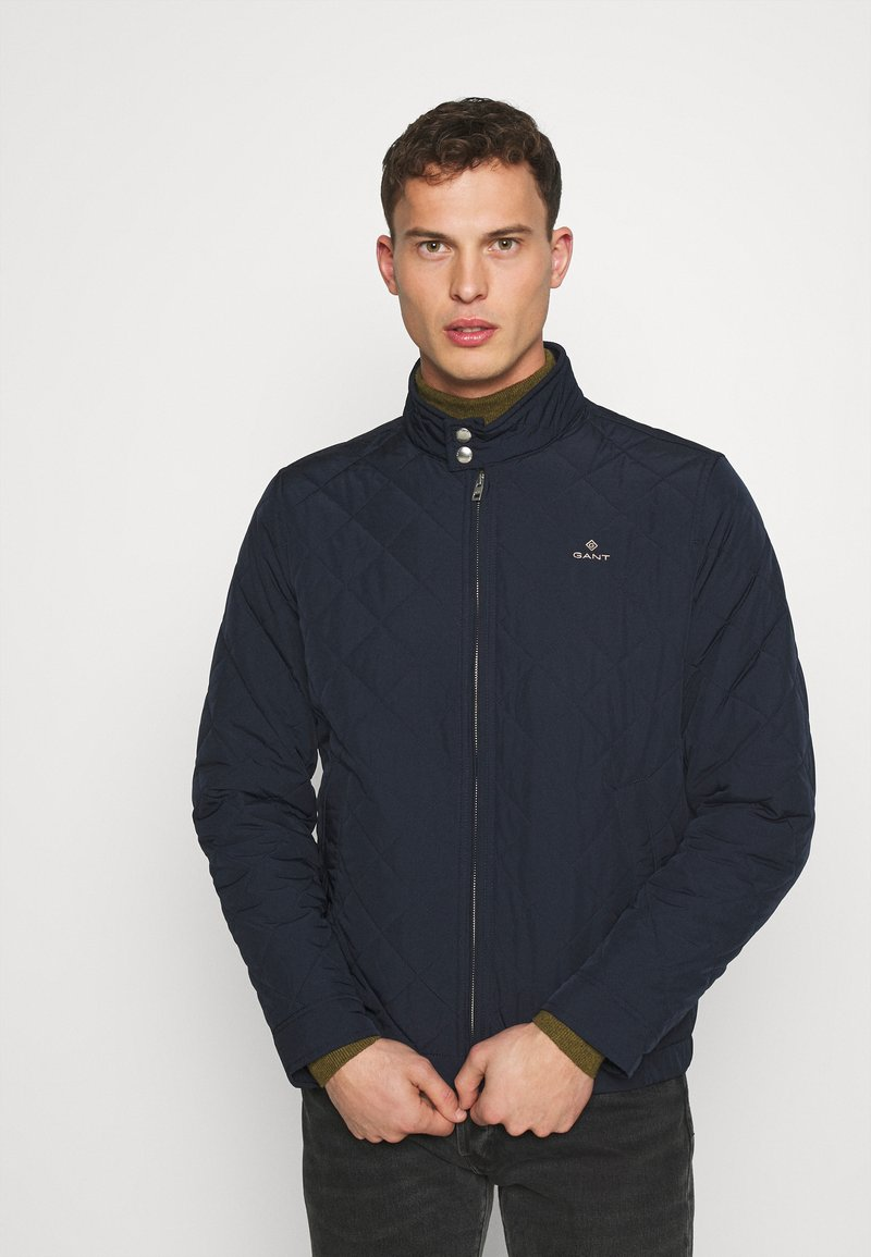 GANT - QUILTED WINDCHEATER - Chaqueta de entretiempo - evening blue