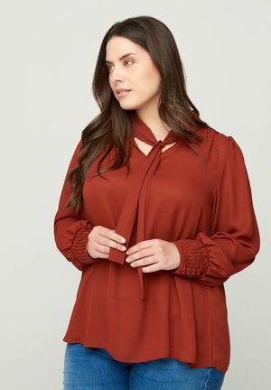 Blouse - dark orange