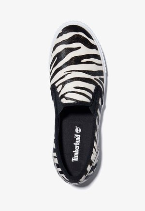 Mocasines - black and white zebra