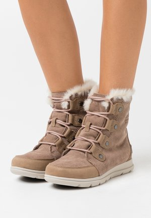 EXPLORER JOAN - Lace-up ankle boots - beige