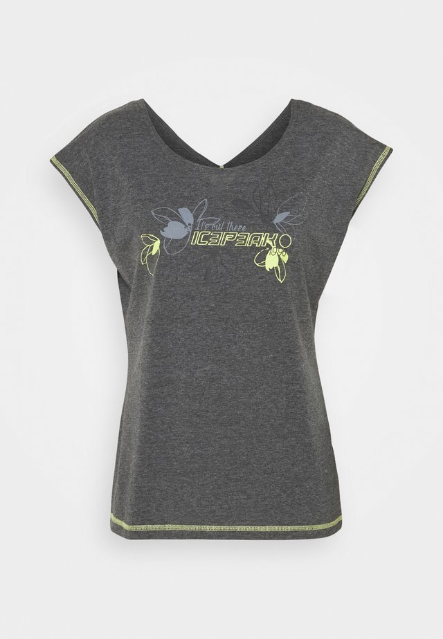 MODENA - T-shirt con stampa - lead grey